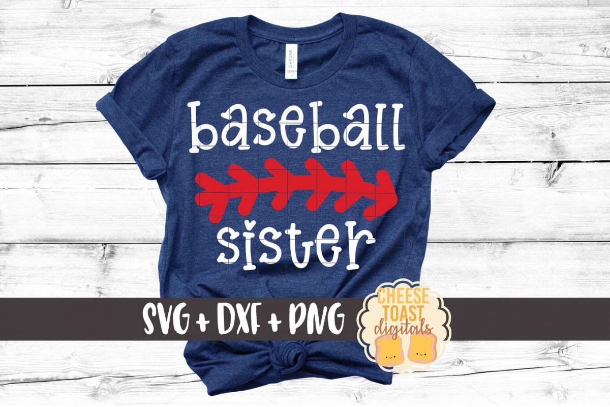 Baseball Sister - Baseball SVG PNG DXF Cut File example image 1