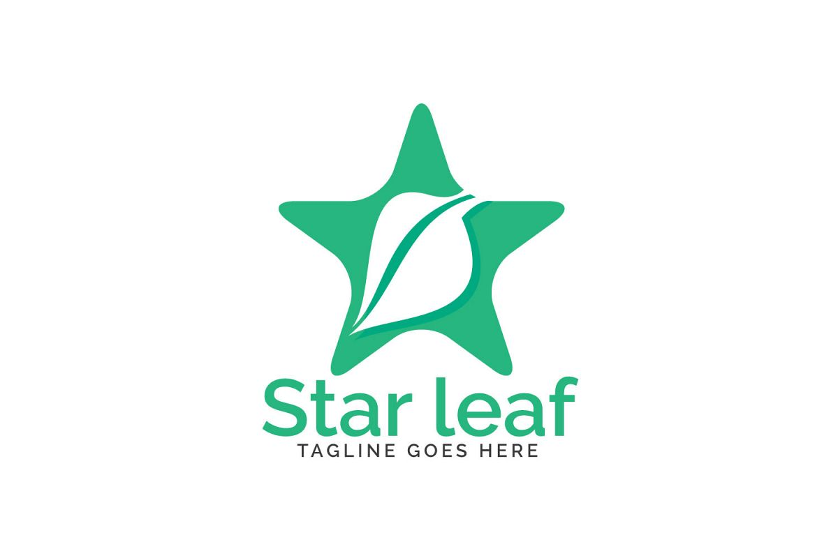 Star leaf logo design. example image 1