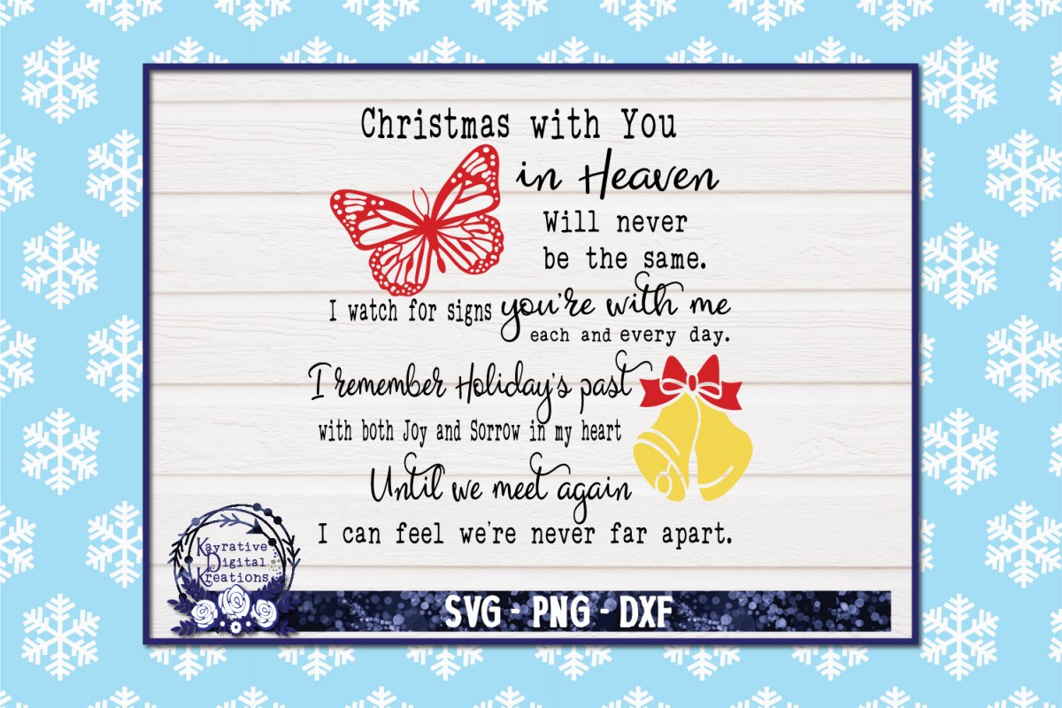 Christmas In Heaven Svg.Christmas In Heaven Butterfly Svg