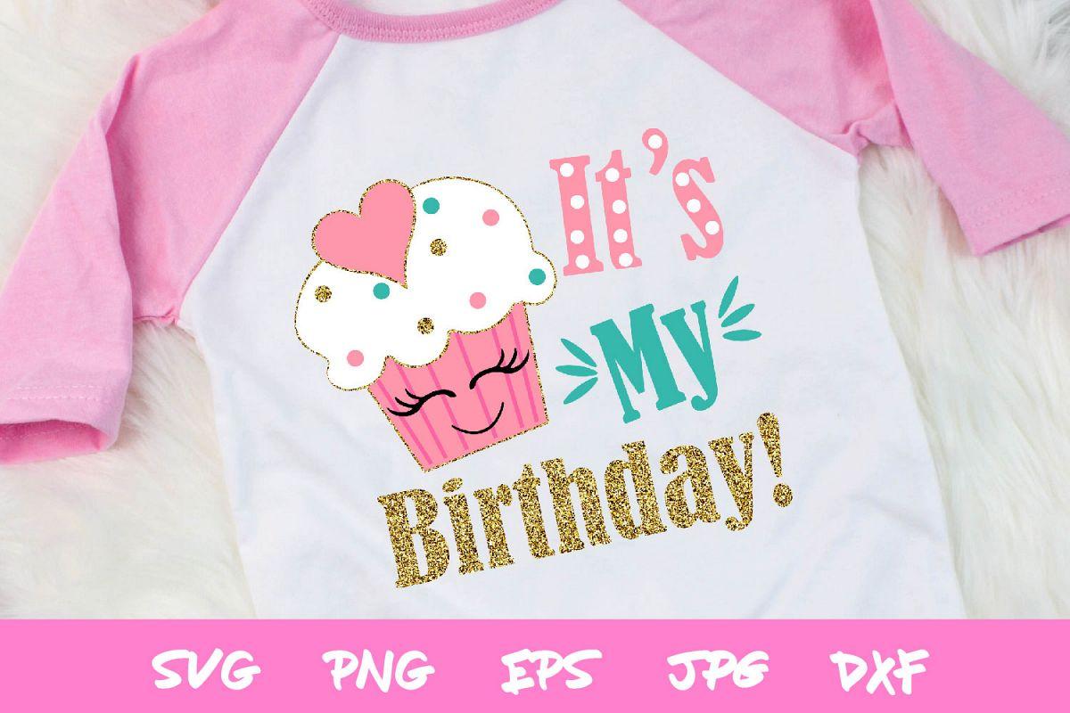 Birthday SVG, girls birthday cut file, silhouette, cricut example image 1