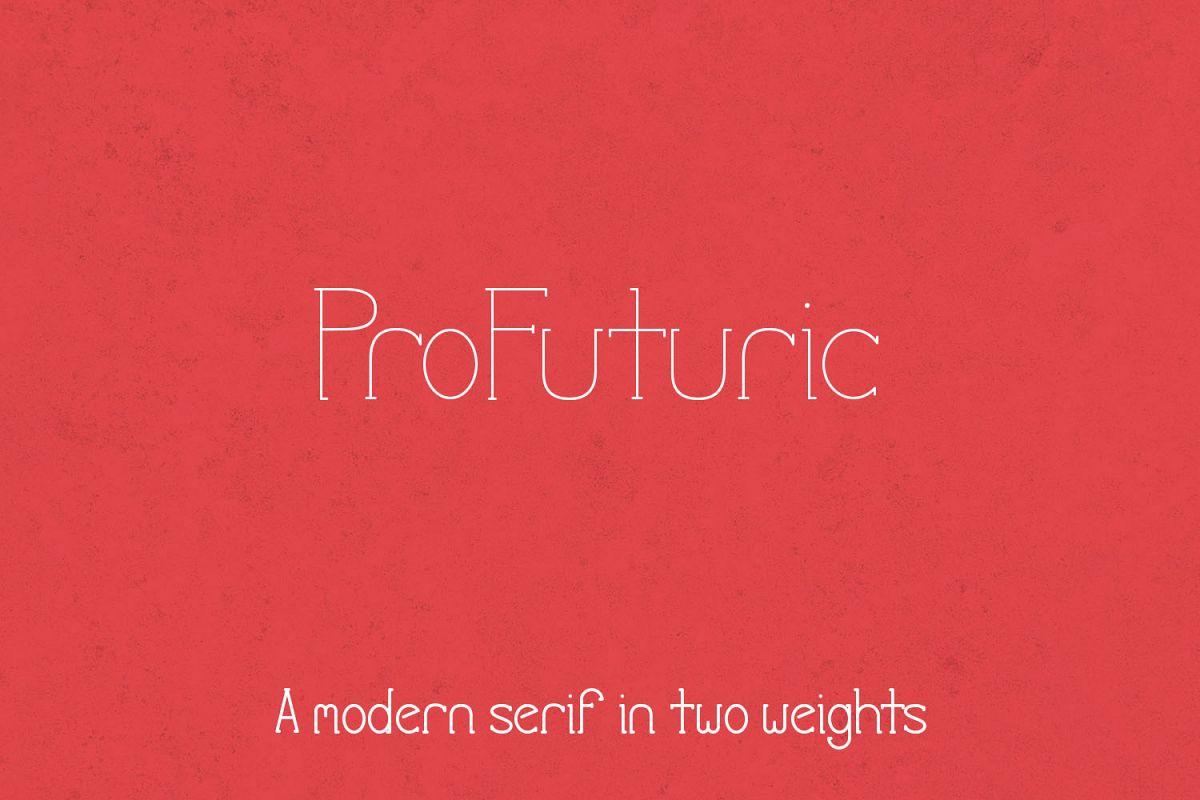 ProFuturic Serif example image 1