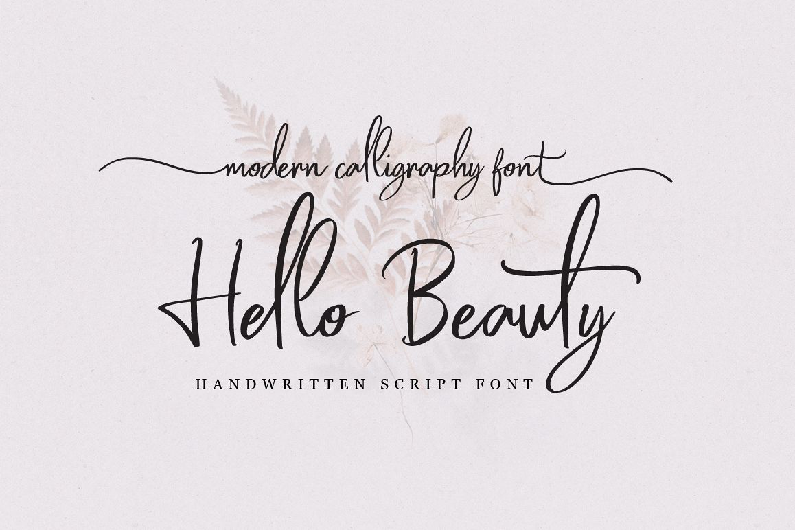 Hello Beauty - Handwritten Font example image 1