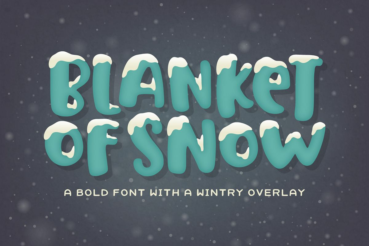 Blanket of Snow Font example image 1