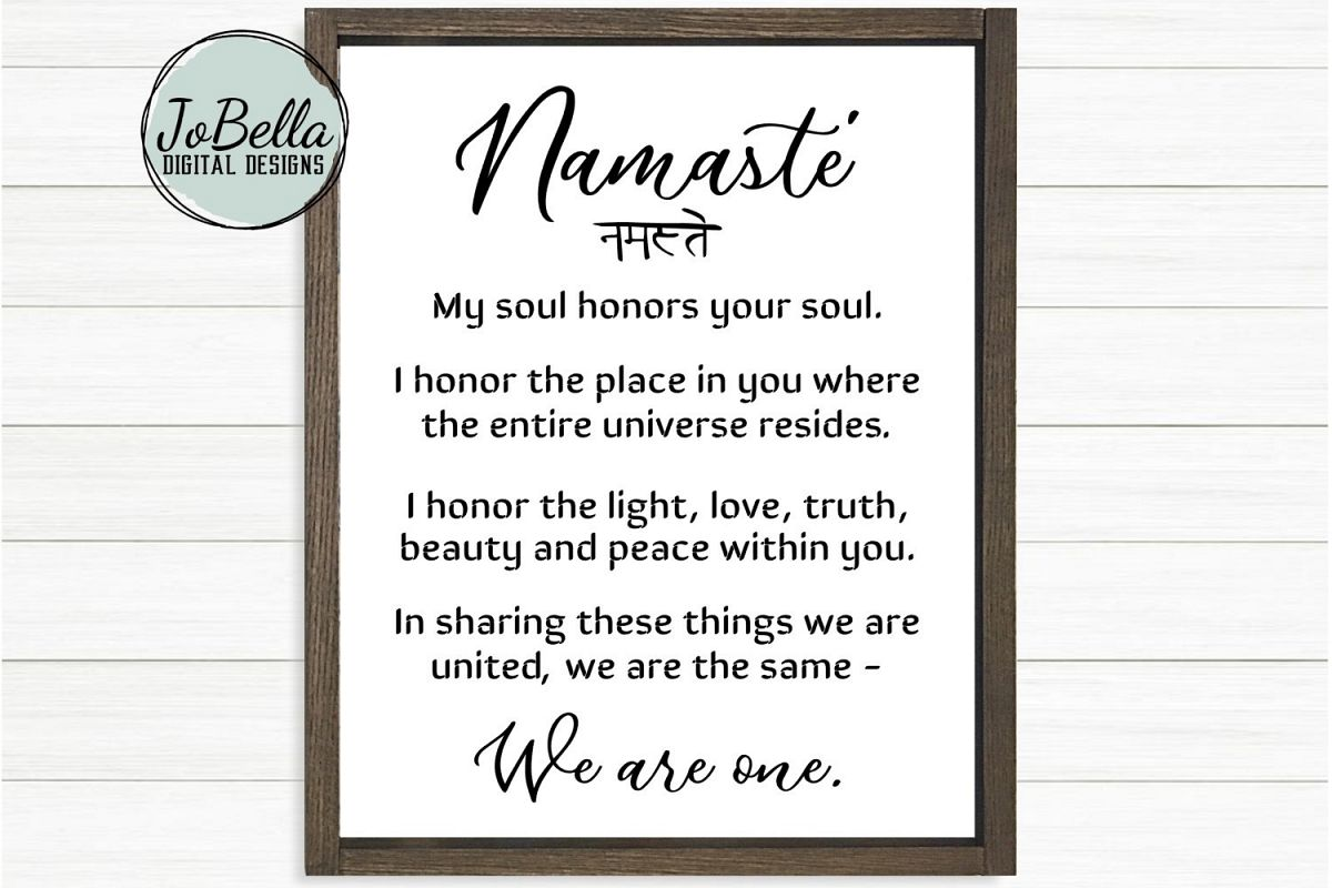 Namaste Definition SVG, Sublimation PNG & Printable example image 1