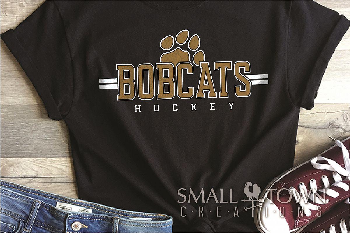 Bobcat Hockey, Paw Print, Sport, Team, PRINT, CUT & DESIGN example image 1