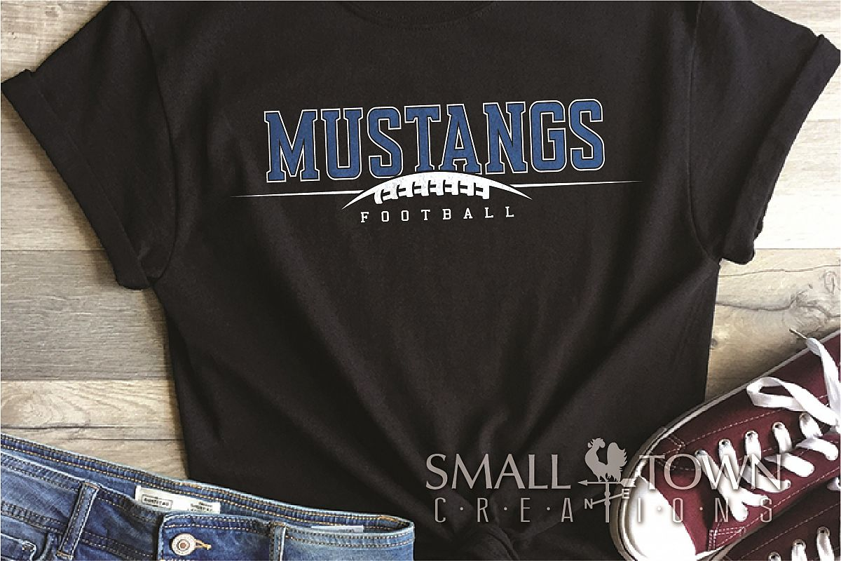 Mustang, Mustang Football Team, Sport, PRINT, CUT & DESIGN example image 1