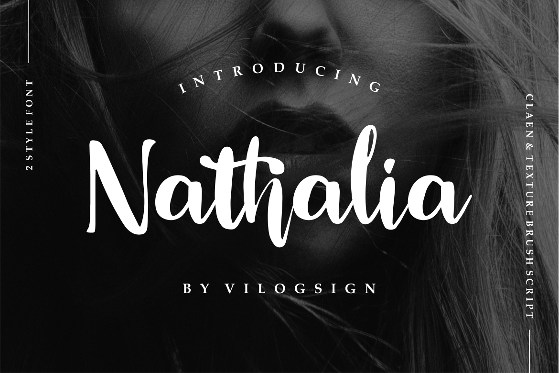 Nathalia // Modern Handwritten Script Font example image 1