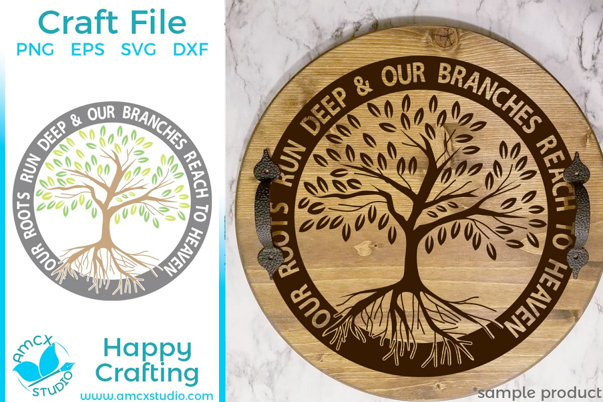 Our Roots Run Deeps, Family Tree - Die Cut SVG Craft File example image 1