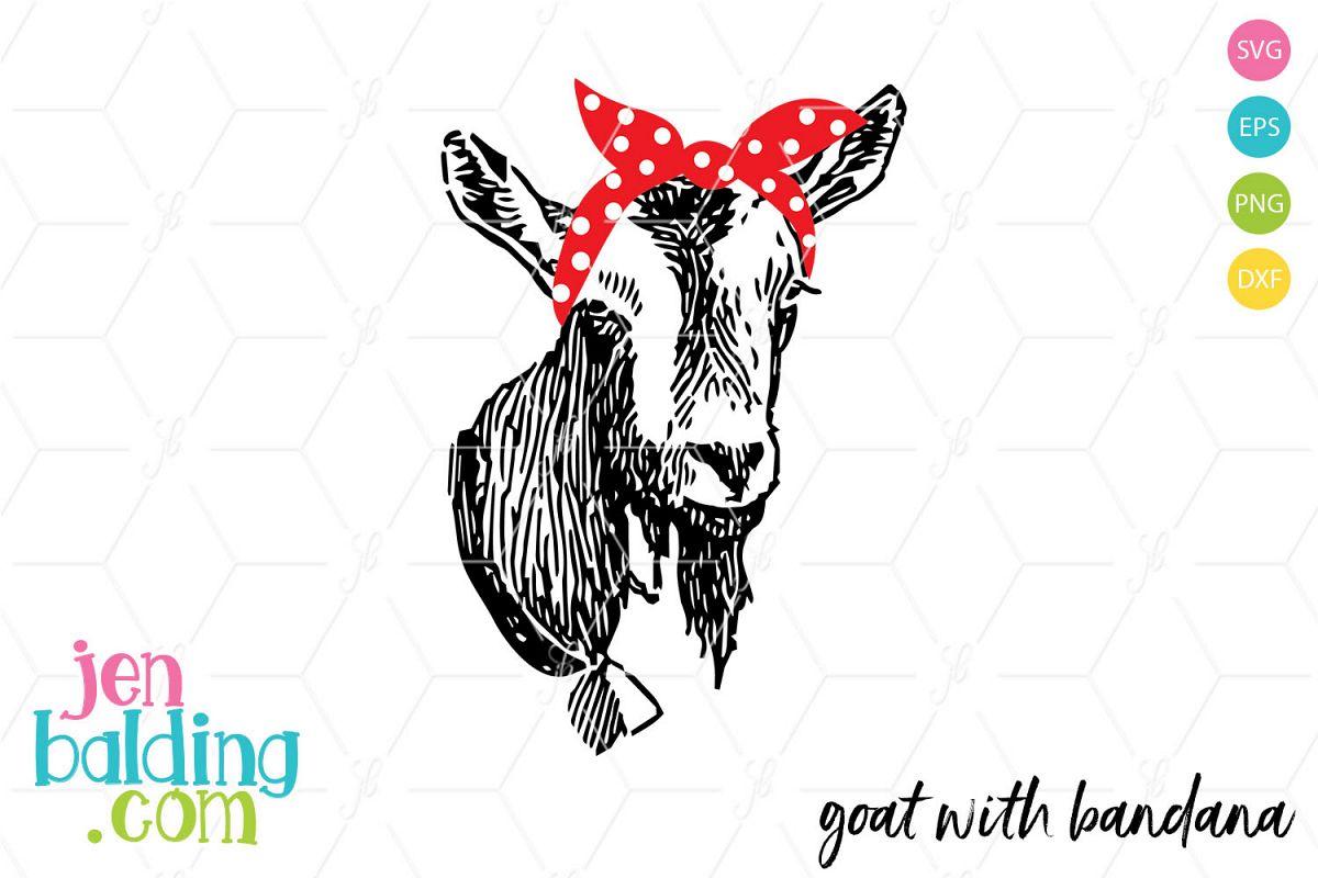 Goat With Bandana SVG example image 1