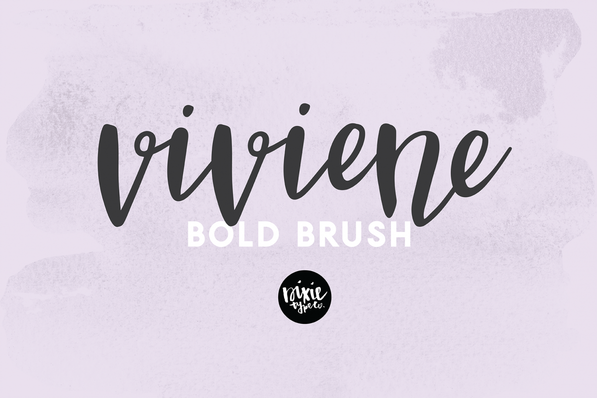 VIVIENE BOLD BRUSH Script .OTF Font example image 1