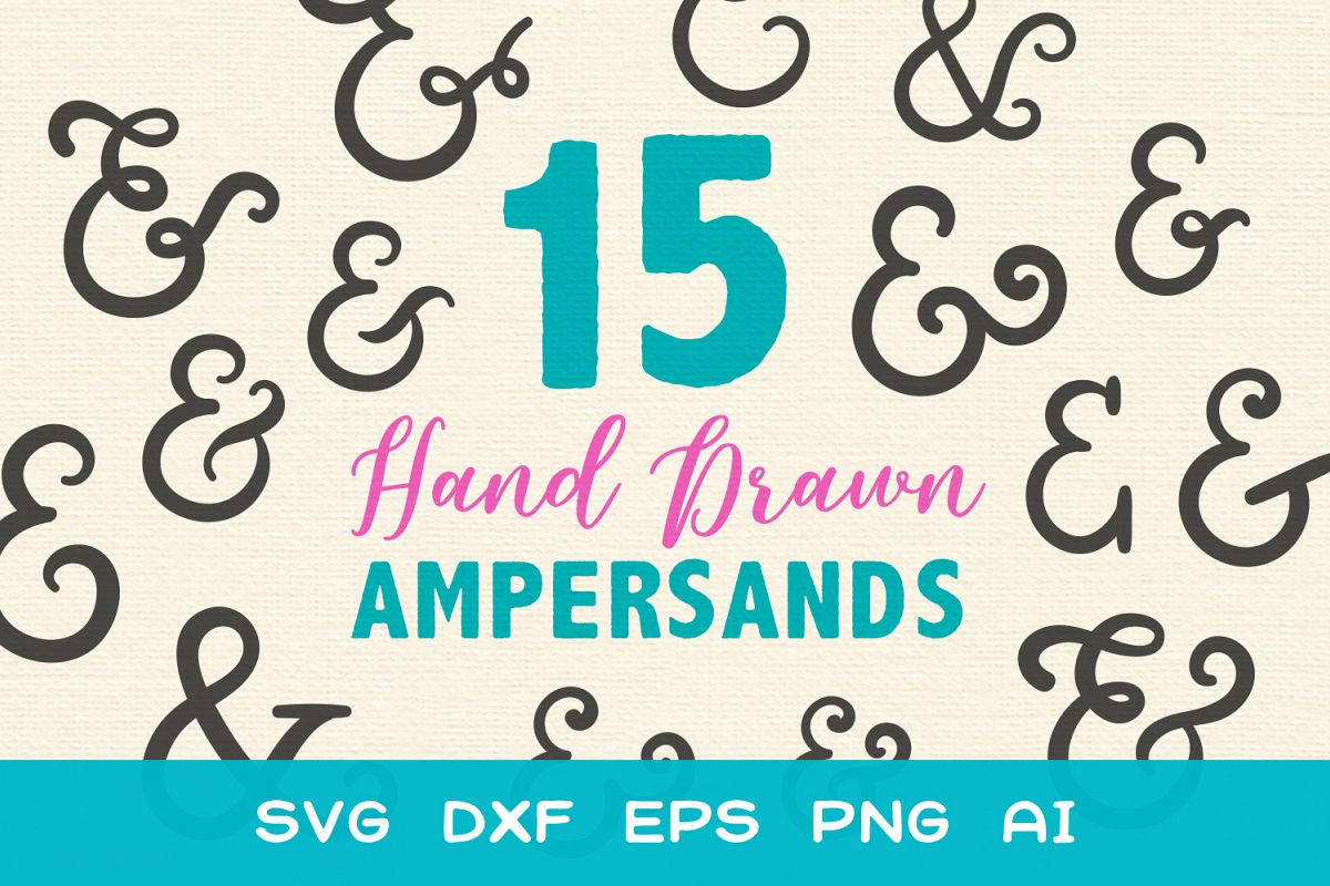 15 Ampersands for Crafters - SVG DXF EPS Cutting Files example image 1