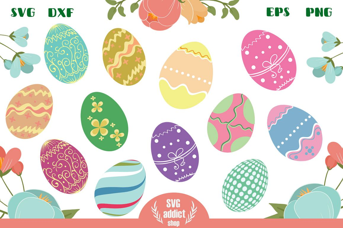 12 Easter Eggs Cut Files Vol 02 example image 1