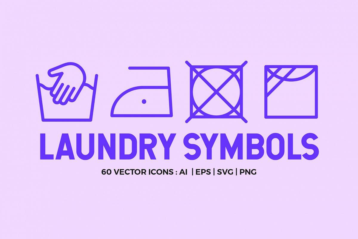 Laundry Symbols | Line icons example image 1