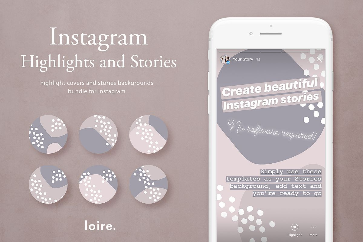 Instagram stories & highlight covers example image 1