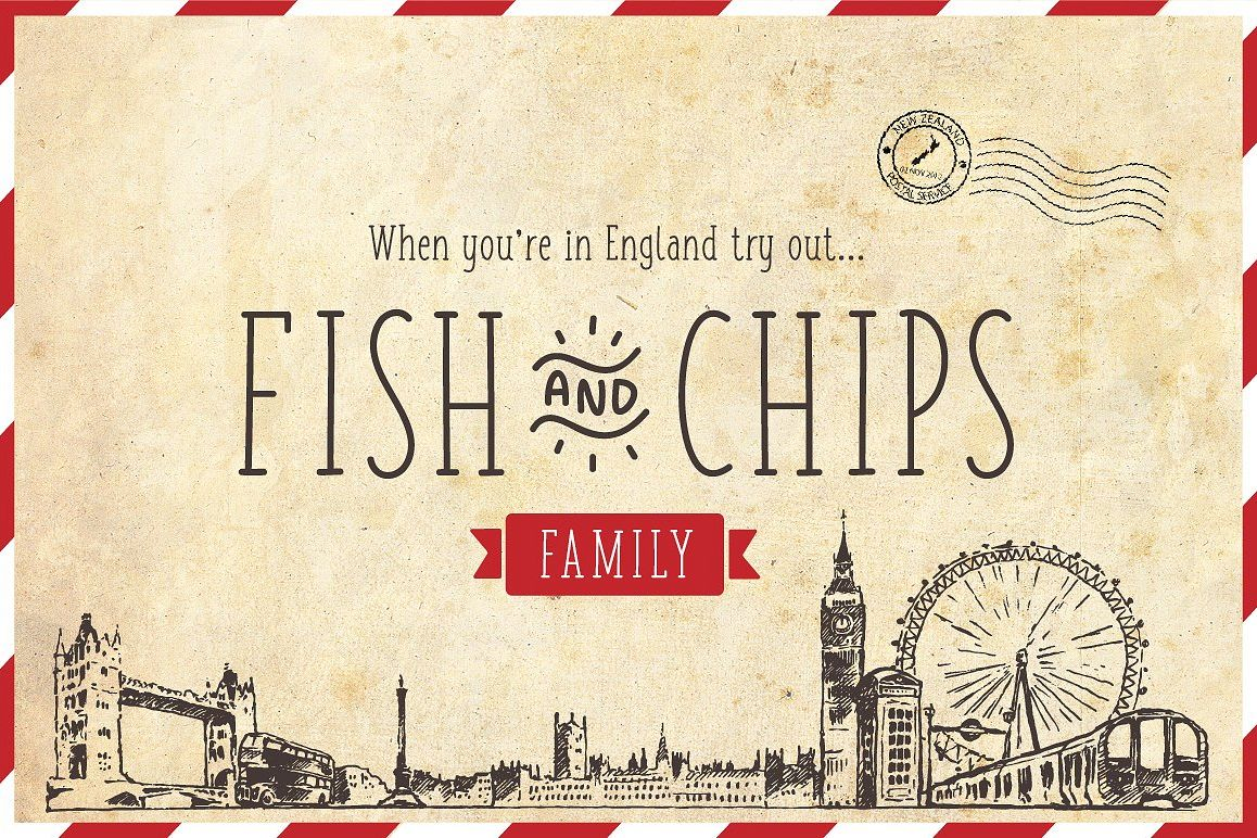 Fish and Chips - Full Family example image 1