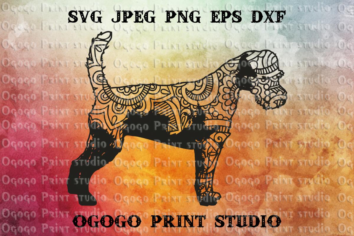 Terrier svg, Mandala SVG, Zentangle svg, Pet love svg, Dog example image 1