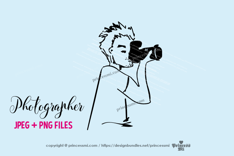 photographer clipart - men holding camera example image 1