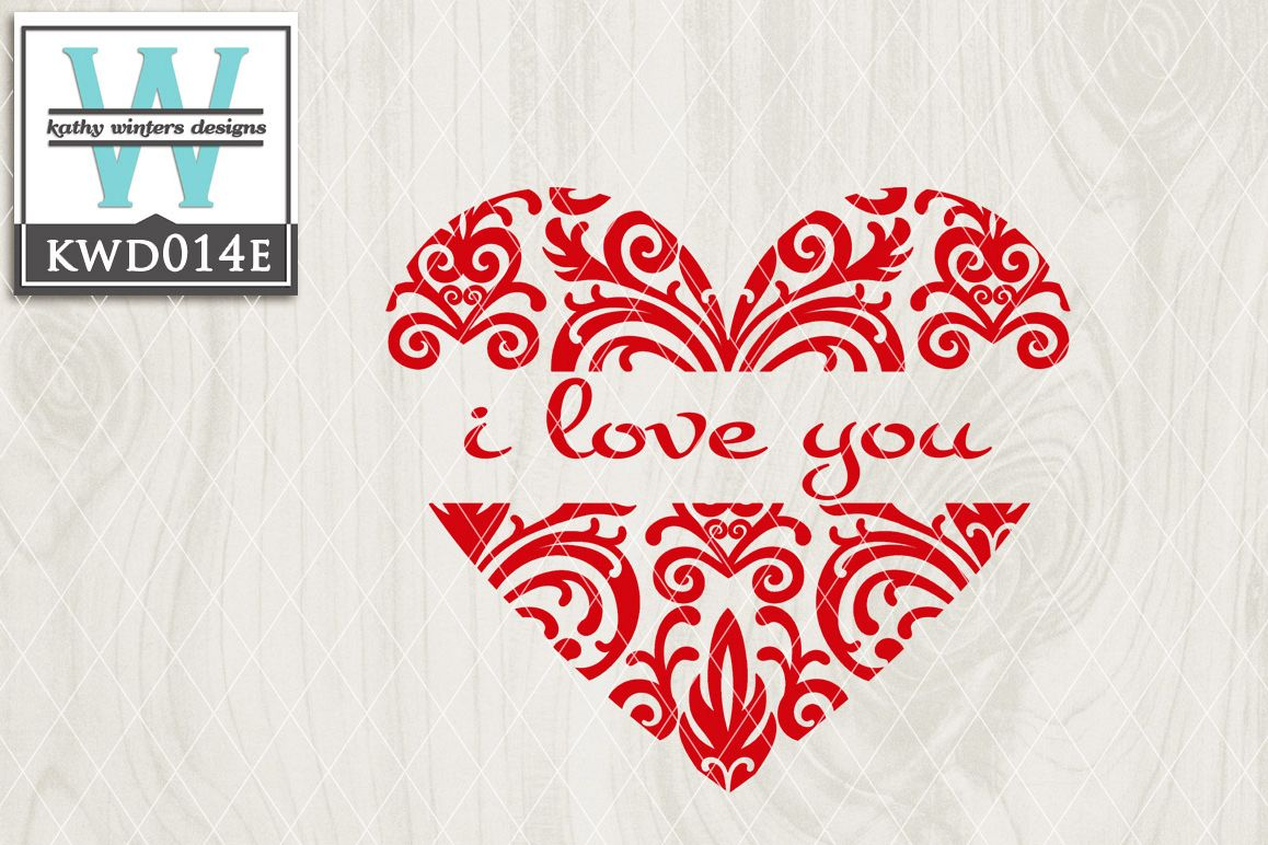 Valentines Cutting File KWD014e example image 1