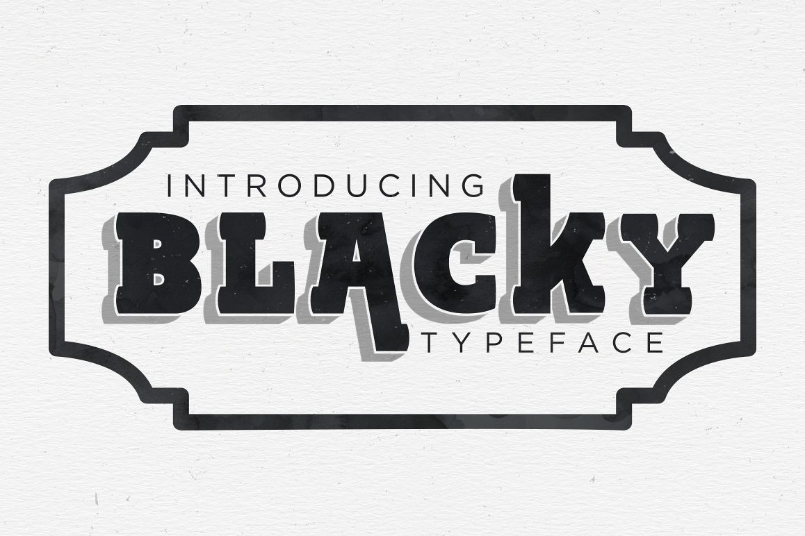 BLACKY Typeface example image 1