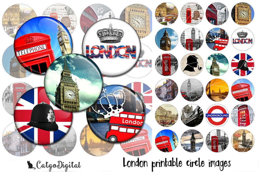 London printable circle images 1