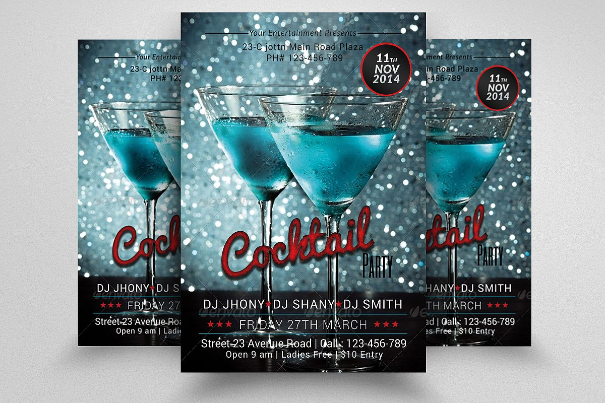 Cocktail Party Flyers example image 1
