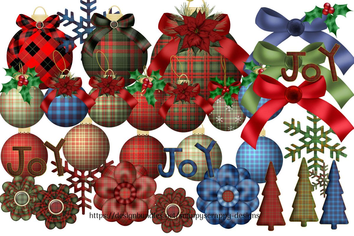 Tartan Christmas Decorations