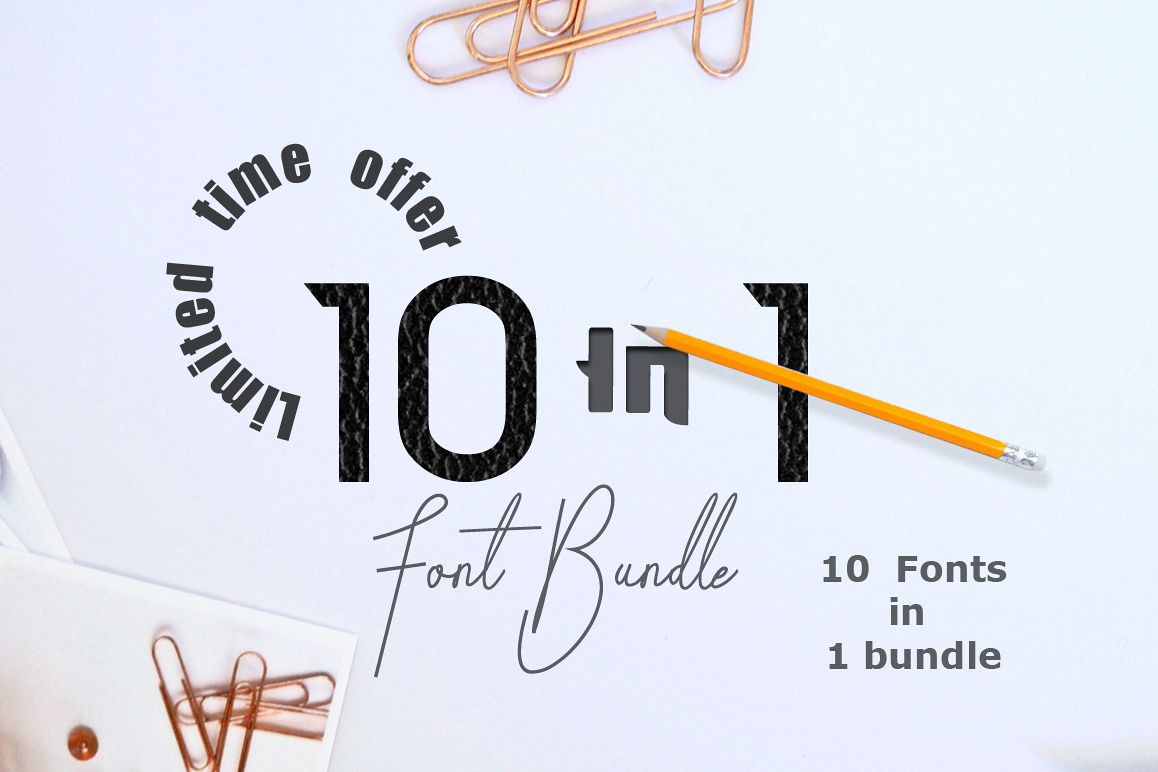 10 in 1 - font bundle example image 1