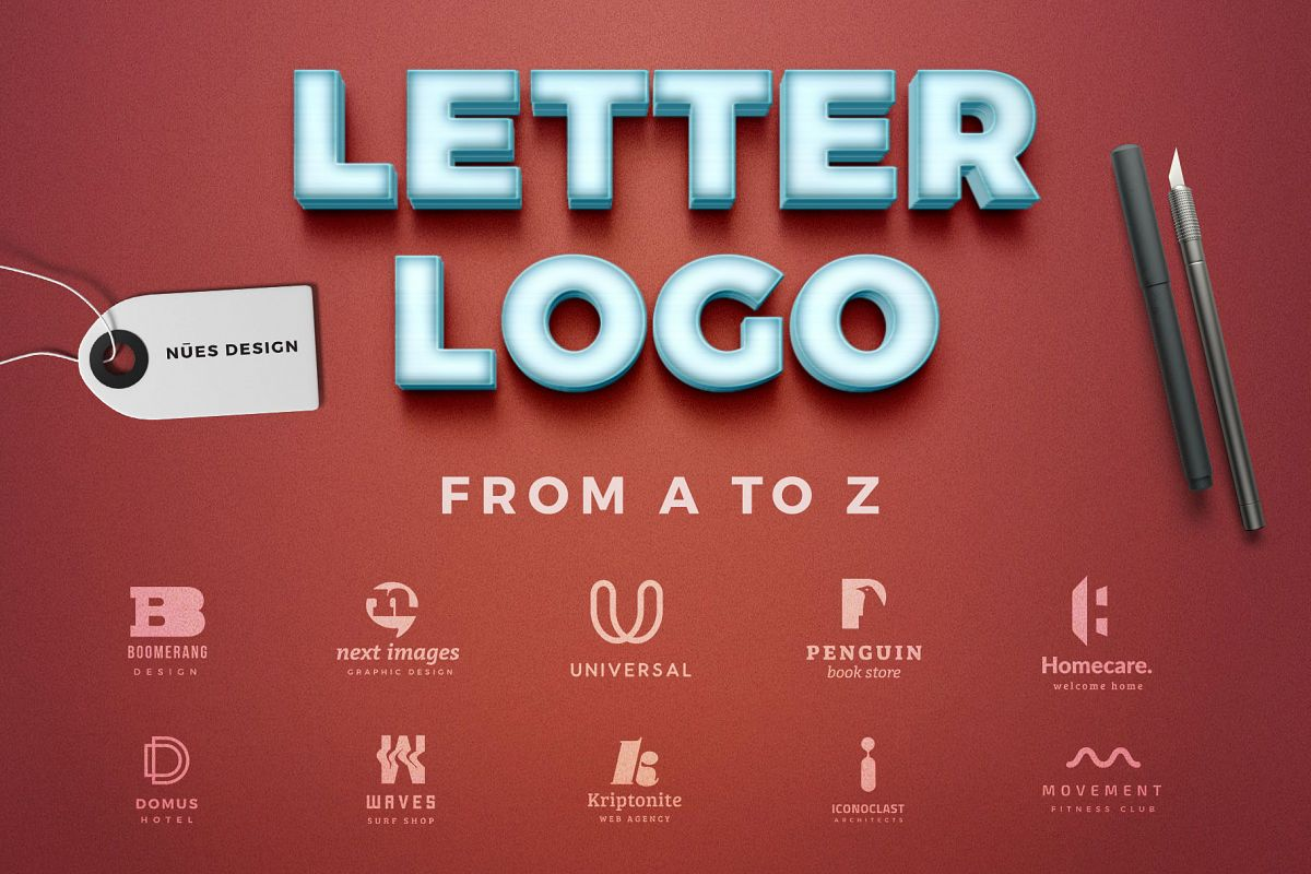 Letter logos template from a to z example image 1