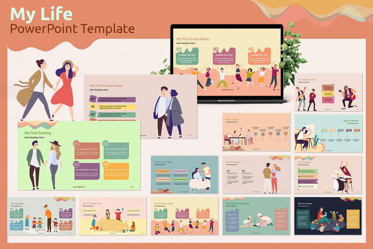 My Life PowerPoint Template example image 1