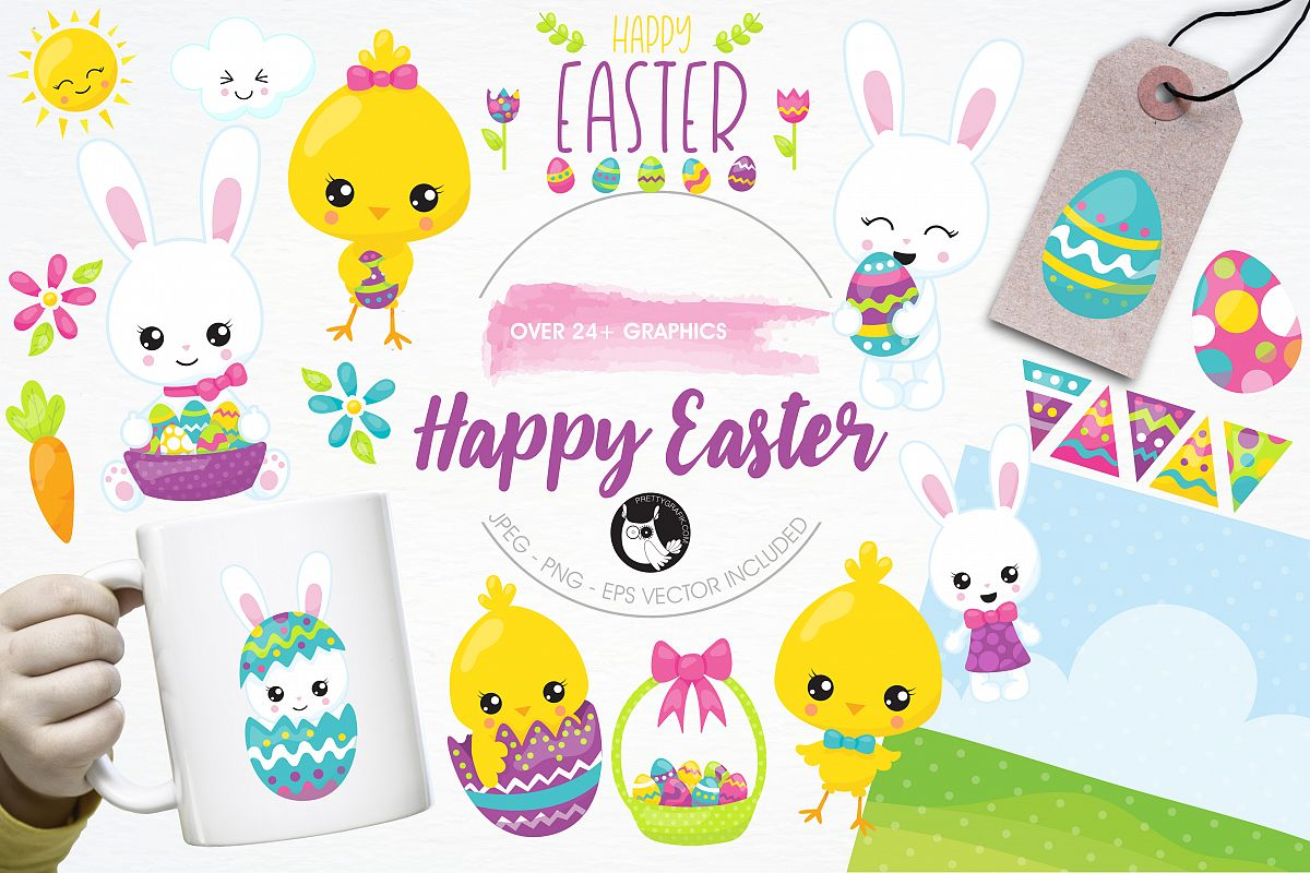 Happy Easter graphics and illustrations example image 1