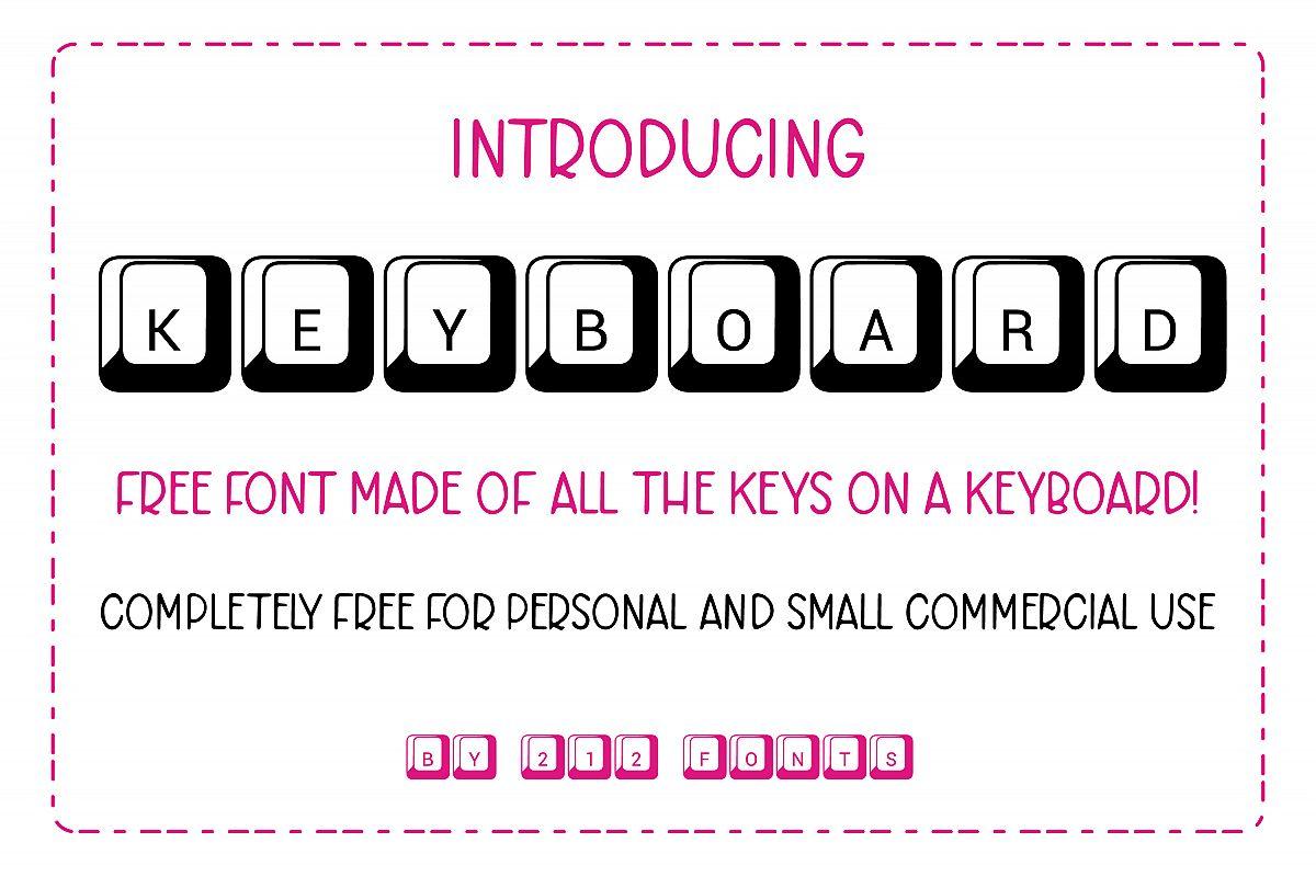 212 Keyboard Computer Keys Font example image 1