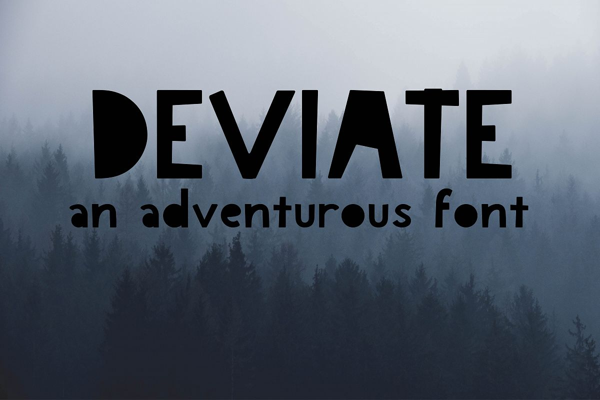 Deviate An Adventurous Font example image 1