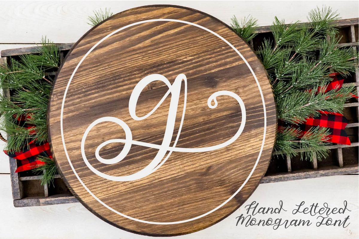 Hand Lettered Monogram Font - Perfect For Personalization! example image 1