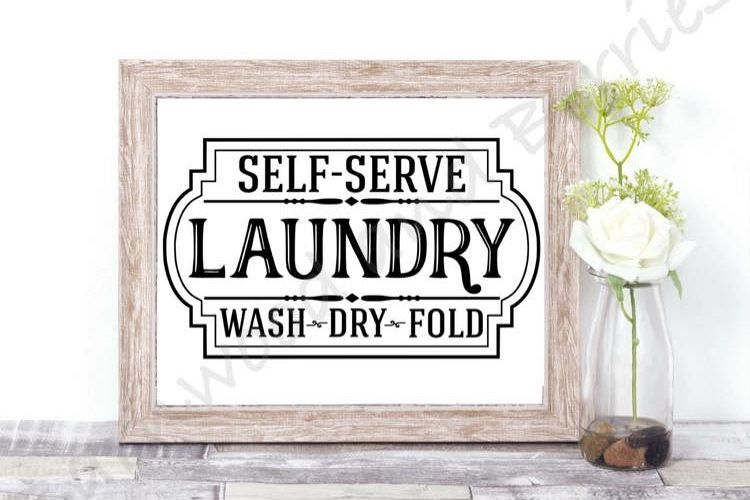 Self-Serve Laundry SVG example image 1