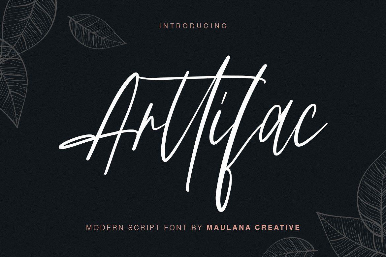 Arttifac - Modern Script Font example image 1