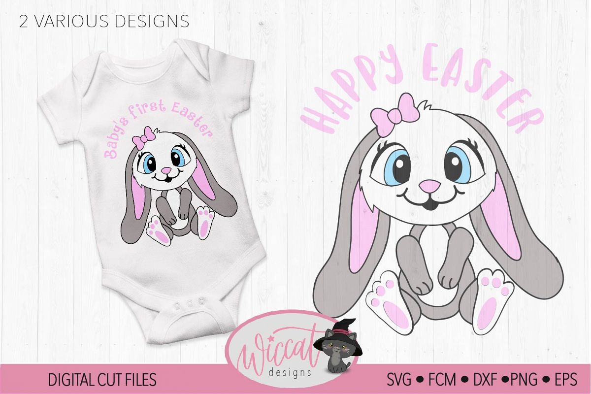 Baby's first Easter, baby bunny example image 1