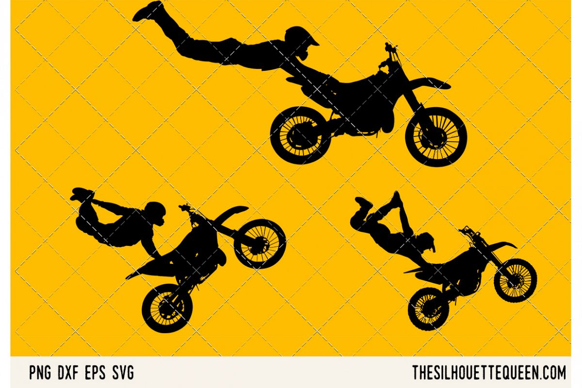 Freestyle motocross SVG example image 1