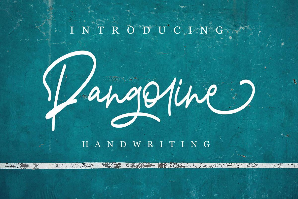 Pangoline | Handwriting Script example image 1