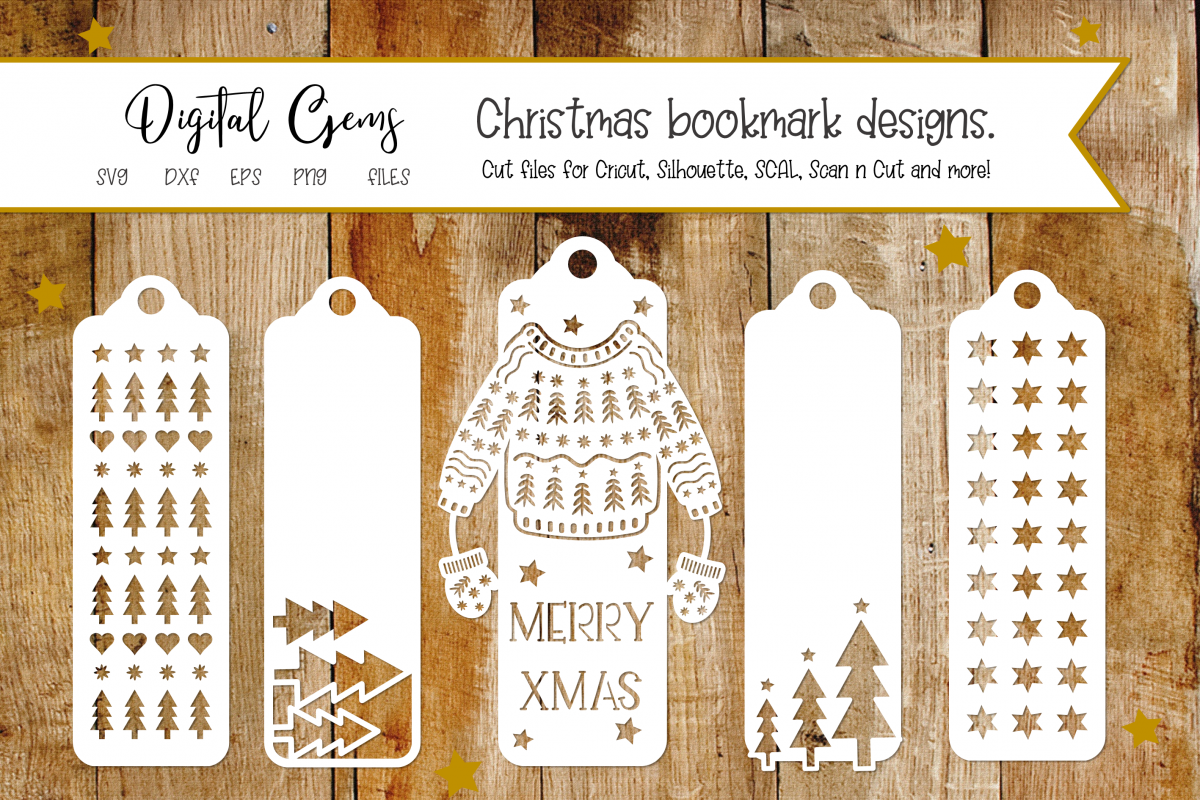 Bookmark, Christmas SVG / DXF / EPS / PNG Files example image 1