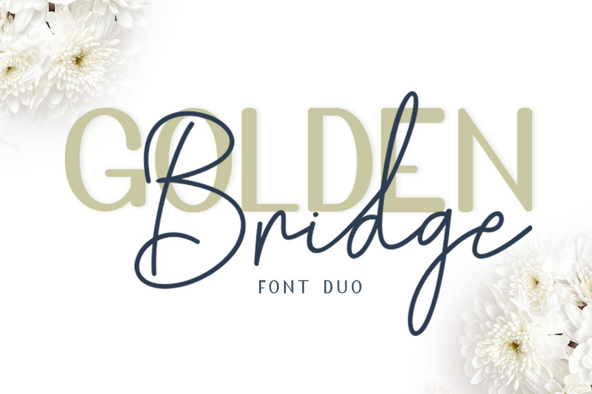 Golden Bridge Font Duo example image 1