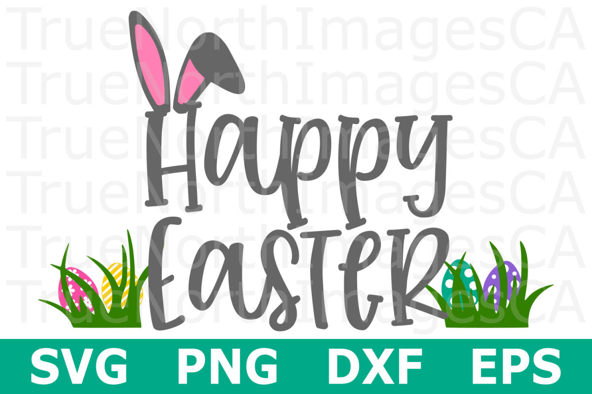 Happy Easter - An Easter SVG Cut File example image 1