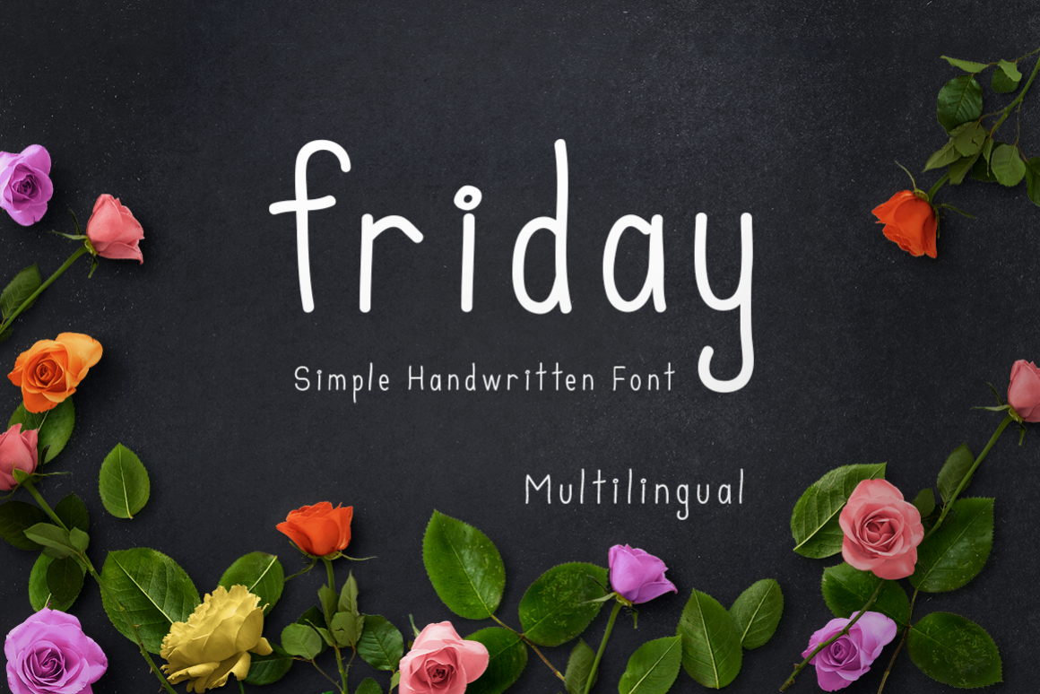 friday multilingual sans font example image 1