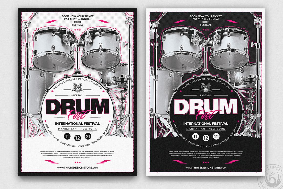 Drum Fest Flyer Template example image 1