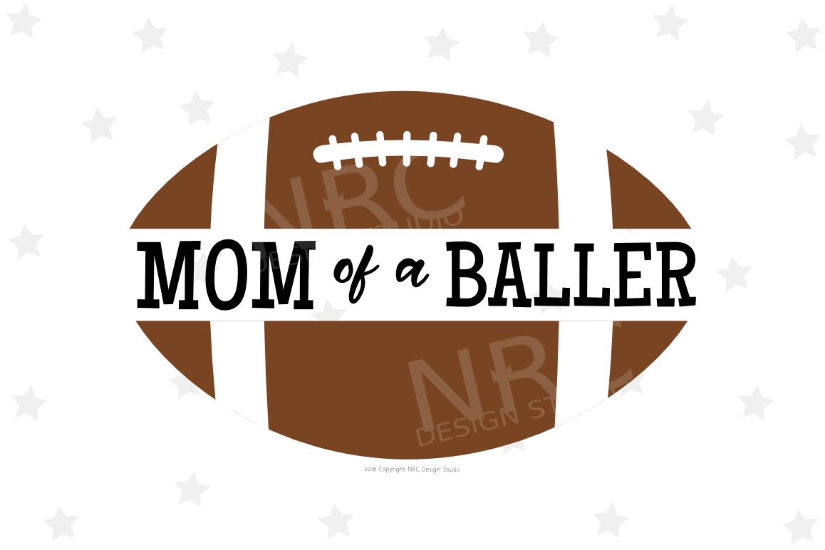 Football Mom of a Baller SVG File, Sports example image 1
