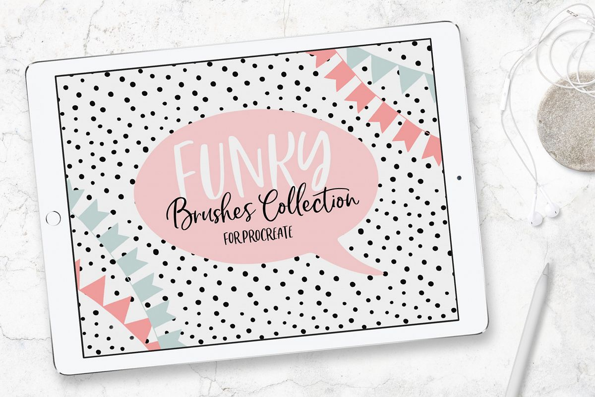 Funky Brushes Collection for Procreate example image 1