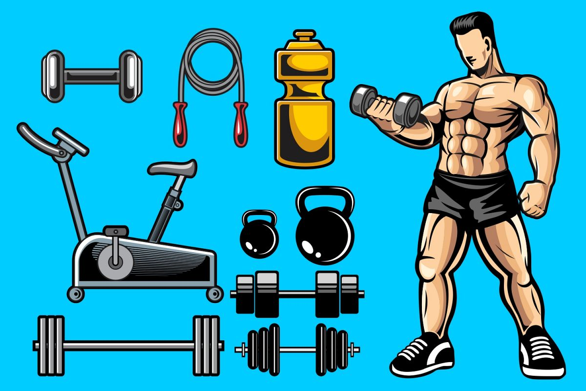 Fitness Vector Pack example image 1