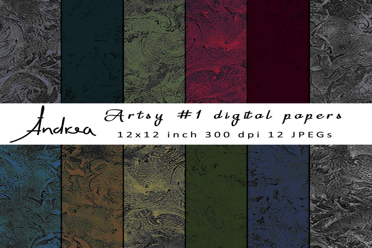 Artsy 1 digital papers example image 1