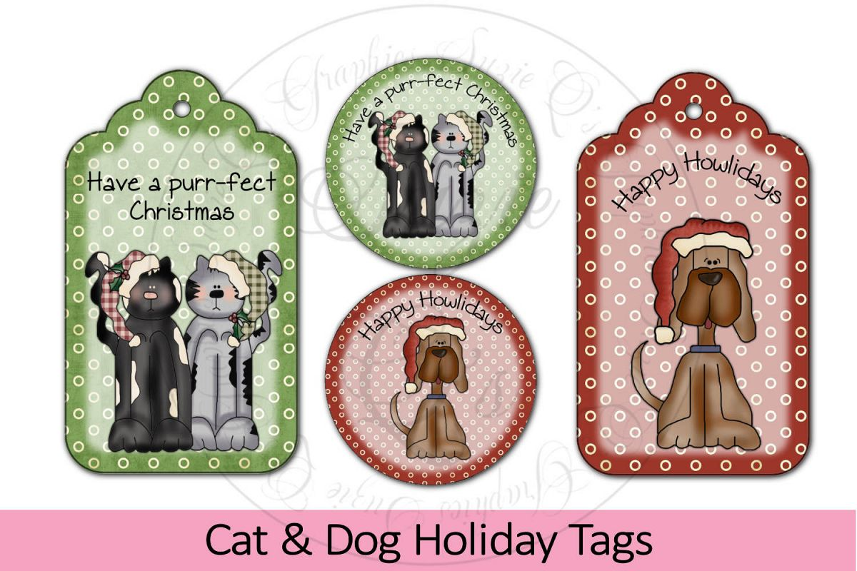 Cat and Dog Holiday Tags example image 1