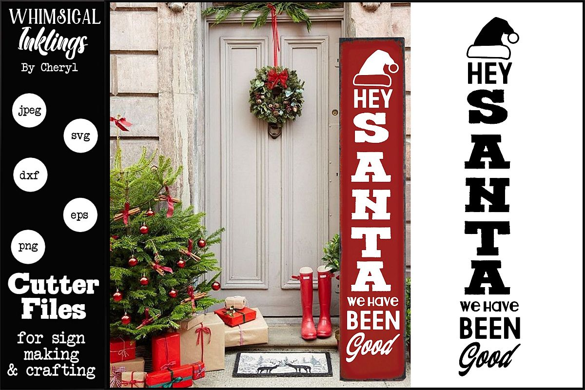 Hey Santa-Vertical Christmas SVG example image 1