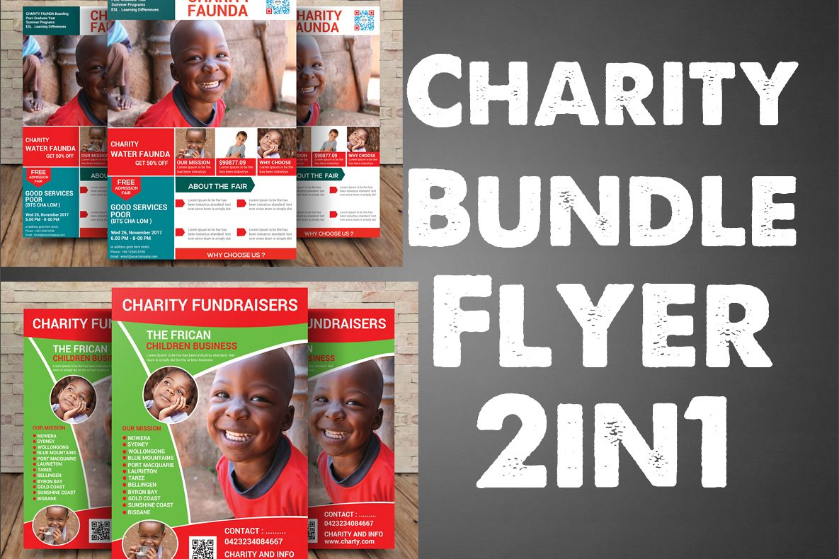 Charity Bundle Flyer 2in1 example image 1